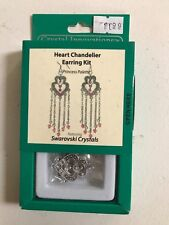 Earrings Kit Crystal Innovations Heart Chandelier Clear White Crystals