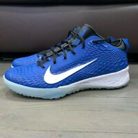 New Men's Nike Force Zoom Trout 5 Turf Baseball Shoes Blue AH3374-401 Size 14