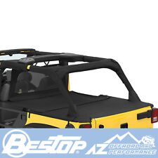 Bestop Duster Deck Cover Extension - Black Diamond 07-18 Jeep Wrangler JK 4 Door