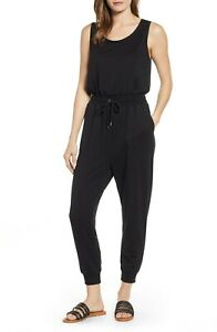 CASLON  Sleeveless Jersey Jumpsuit in Black  Size L / 14  BRAND NEW WITH TAGS