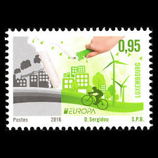 """Luxembourg 2016 - EUROPA Stamps """"Think Green"""" Art - MNH"""