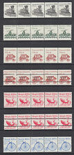 US Sc 1897A/2231 MNH. 1982-90 Transportation, Plate Number Strips of 5, 23 diff