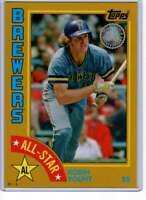 Robin Yount 2019 Topps 1984 Topps All-Stars Oversize 5x7 Gold #84AS-RY /10 Brewe