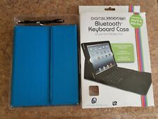 Digital Gadgets Bluetooth Keyboard Case Blue For iPad 2 Used Good Condition