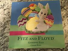 Fitz and Floyd Easter Gathering Eggs Canape Plate