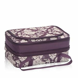 Thirty One Perfect Party Set Casserole Vintage Damask Purple NEW