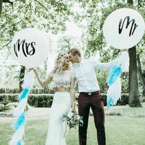 36inch Mr Mrs Latex Balloon Just Married Wedding Bachelorette Party Decorations