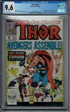 CGC 9.6 THOR #390 CAPTAIN AMERICA WITH THORS HAMMER