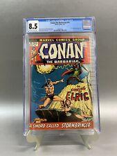 Conan the Barbarian #14 CGC 8.5 1st Elric App Marvel 1972 New Case RARE 🔑