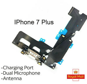 For iPhone 7 Plus Charging Port Headphone Jack Antenna Mic Replacement White