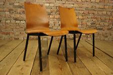 60er Vintage Esszimmer Stuhl Industriedesign Holz Stapelstuhl Nussbaum Loft 1/8