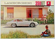 1964 Lamborghini 350 GT Original Sales Brochure Bertone Gandini Prospekt