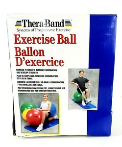 """New Thera Band Exercise Ball Blue 75cm for 6'2""""- 6'8""""or 188-203cm NIB"""