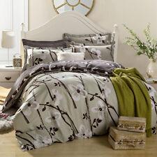 300TC 100% Cotton Queen Size Quilt Doona Duvet Blanket Cover Pillowcases Set - L