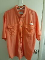 Magellan Mens Button Down XL Vented Fishing Shirt Relaxed Fit EUC-Salmon Colored