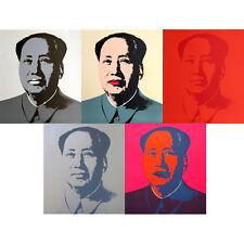 ANDY WARHOL Pop Art - Sunday B Morning - Mao Portfolio - 5 Screen prints + COA