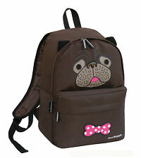 DAVID AND GOLIATH - YOU SO PUGLY SCHOOL BACKPACK - BROWN