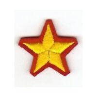 [Patch] STELLA MILAN JUVENTUS INTER fondo rosso cm 3,7 x 3,7 toppa ricamata -277