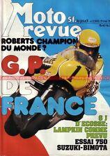 MOTO REVUE 2365 SUZUKI GS 750 SB2 BIMOTA Grand Prix de France 1978