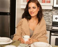 """Flato Handloomed 100% Cotton Throw Sofa Blanket Indian, 50""""x60"""", Sand"""