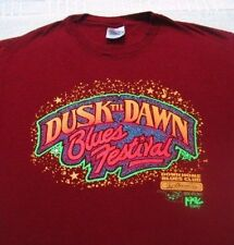 DUSK TIL DAWN 1996 blues festival LARGE T-SHIRT vintage