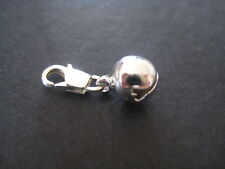 Clip On Silver Plated Tiny Bell Charm (x 2)