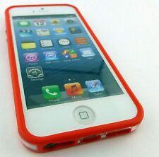 BOGO RED CLEAR HARD TPU GEL PC HYBRID BUMPER CASE COVER APPLE IPHONE 5 5S SE