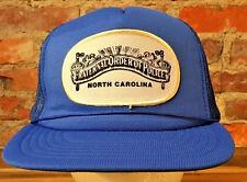 Vintage Hat North Carolina Fraternal Order of Police Trucker Snapback Blue H5