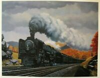 Howard Fogg New York Central 3014 Print 15x17 New 4-8-2 Mohawk 1940's