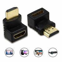 90 270 Grad Rechtwinklig Winkel HDMI Stecker auf Buchse Adapter Verbindungskabel