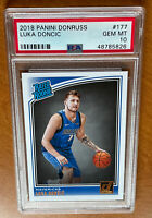 2018-19 DONRUSS LUKA DONCIC RATED ROOKIE RC #177 PSA 10 GEM MINT