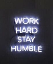 """New Work Hard Stay Humble Acrylic Lamp Artwork Poster Neon Light Sign 14""""x19"""""""