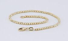 Armband Armkette Kugelkette 19 cm, 585 Gold, Diamantoptik, top modern!