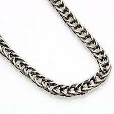 Vintage 925 Sterling Silver Woven Oxidized Chain 6mm Wide Vintage Estate