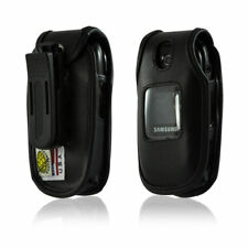 Turtleback Samsung U360 Gusto Leather Fitted Phone Case with Plastic Belt Clip