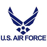 US AIR FORCE USAF EMBLEM ARMY WINGS MILITARY VINYL DECAL STICKER (USAF-1)