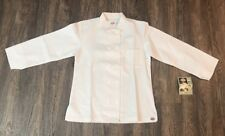 New Dickies Chef Coat Jacket Cw070309A Restaurant Button Front White Small