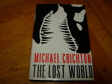 MICHAEL CRICHTON-THE LOST WORLD-SIGNED TO PLATE-1ST US ED-1995-HB-VG/NF-V RARE