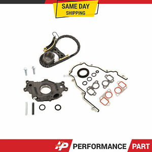Timing Chain Kit Cover Gasket Oil Pump Fit 07-16 GMC Cadillac Buick  5.3 6.0 6.2