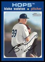 2020 Heritage Minors Base Blue #91 Blake Walston /99 - Hillsboro Hops