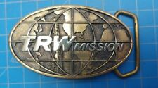 Vintage 1978 TRW Mission Belt Buckle -Solid Brass -Made in USA - Ready to Wear-2