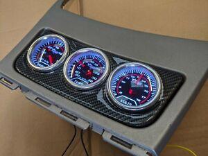 BMW 1 Series E81 E82 E87 E88 Centre Console Gauge Holder 52mm - Carbon fibre ABS
