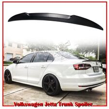 Unpainted For VOLKSWAGEN Jetta MK6 4D Sedan DTO V Type Rear Trunk Spoiler 12-14