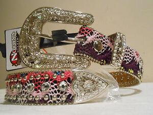 REDUCED! Women's & Girls' Nocona Belt - SIZE 28 SMALL  Maroon & Pink