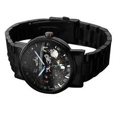 Men&Women Self-winding Skeleton Dial Automatic Mechanical Stainless Steel Watch#