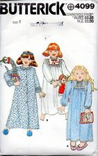 Vintage Butterick Sewing Pattern 4099 Toddlers Robe and Nightgown Size 4