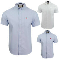 Mens Brave Soul Short Sleeves Button Up Shirts Slim Fit Formal Casual Cotton Top