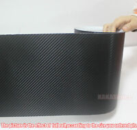 "Multi-function - 8"" Wide Black 3D Carbon Fiber Vinyl Tape Wrap Sticker -- CF"