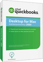 QuickBooks Pro for MAC 2020 - 1 user - Downloadable or CD - Works on MacOS Mo...