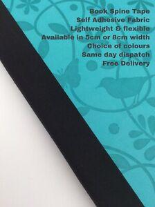 Book Binding Spine Repair Cloth Tape Self Adhesive Choose Width, Colour & Length